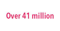 Over 41 million