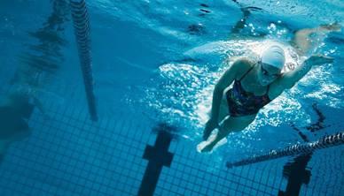 Lady swimming