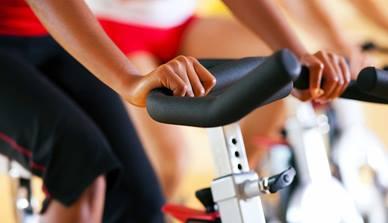 Closeup of exercycle